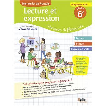 Mon Cahier De Francais 6eme Cycle 3
