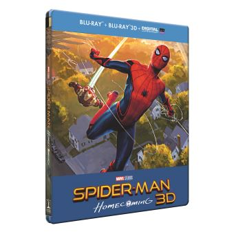 Spider-ManSpider-Man Homecoming Edition limitée Steelbook Blu-ray 3D + 2D