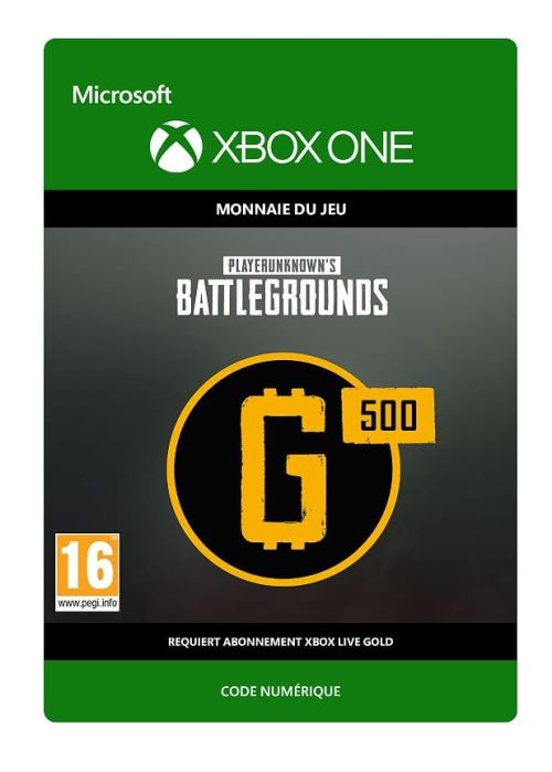 Code de téléchargement PlayerUnknown's Battlegrounds 500 G-Coin Xbox One