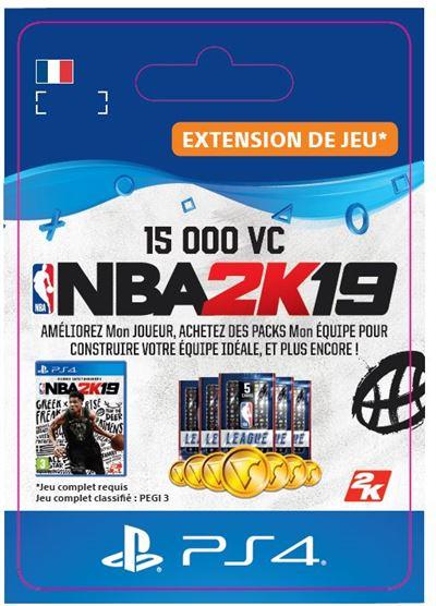Code de téléchargement NBA 2K19 15000 VC PS4