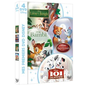 101 DALMATIENS-ARISTOCHATS-LIVRE DE LA JUNGLE-BAMBI-COFFRET