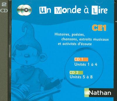 Un monde à lire CE1 - série bleue - Pack 2 CD audio