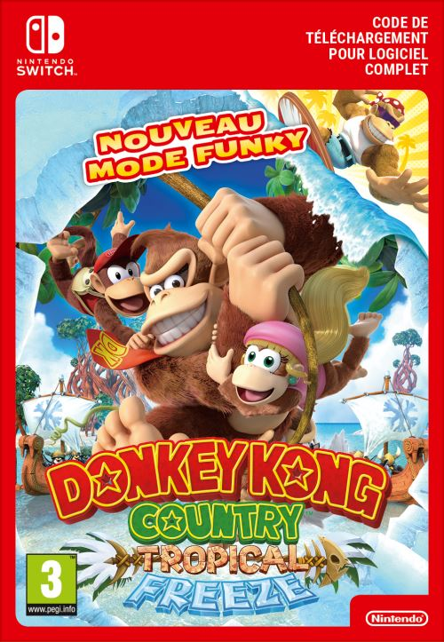 Code de téléchargement Donkey Kong Country Tropical Freeze Nintendo Switch
