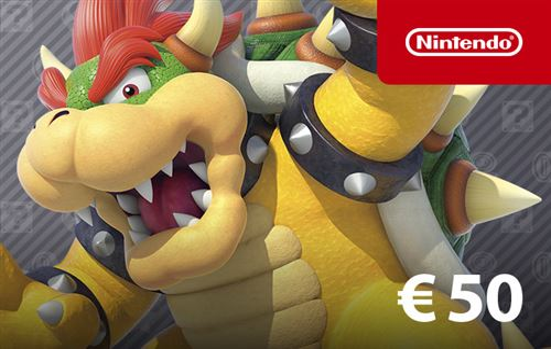 Carte Cadeau Nintendo Fnac.Code De Telechargement Pour Approvisionnement De Compte Nintendo Eshop 50