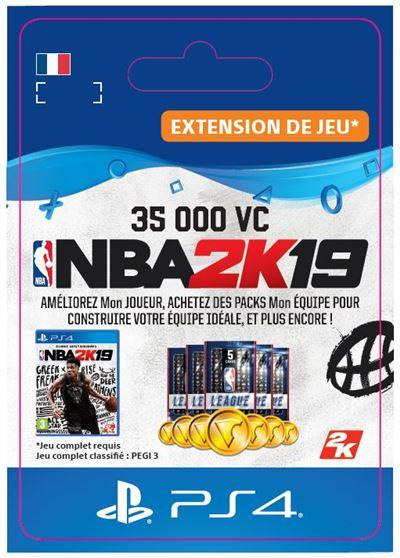 Code de téléchargement NBA 2K19 35000 VC PS4