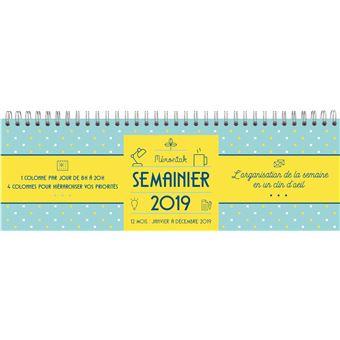 Semainier spirales Mémoniak 2019
