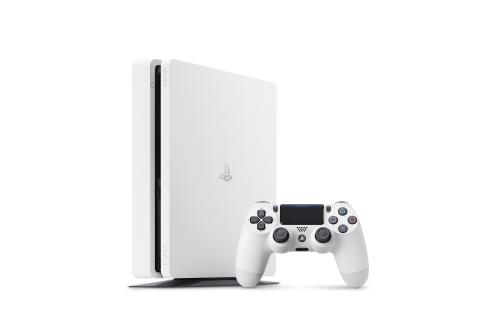 Console Sony PS4 Slim 500 Go Blanche Manette Dual Shock Blanche PS4