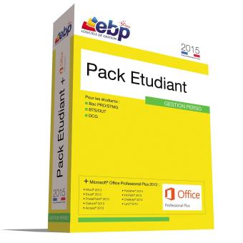 Ebp pack etudiant 2015 pc offre sp ciale microsoft office dvd rom achat prix fnac - Pack office gratuit etudiant ...