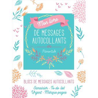 Mon livre de messages autocollants pour m'organiser Mémoniak 2019