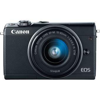 Canon Eos M100 Zwart + 15-45 mm + Tas + SD 16GB