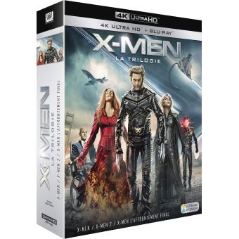 X-MenCoffret X-Men La Trilogie Blu-ray 4K Ultra HD