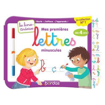815bf42f86a Mes premières lettres minuscules avec 1 feutre effaçable 2 couleurs - Les  livres-ardoises
