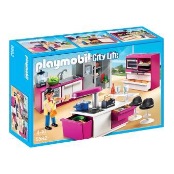 Playmobil city life 5582 cuisine avec lot playmobil for Playmobil maison moderne prix