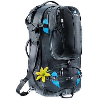 Sac à dos Femme Deuter Traveller 60+10 L SL Noir et Turquoise