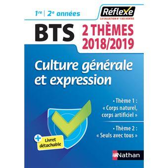 Culture générale bts 2019