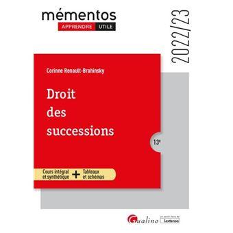 Droit des successions, 10ème édition - 2019/20