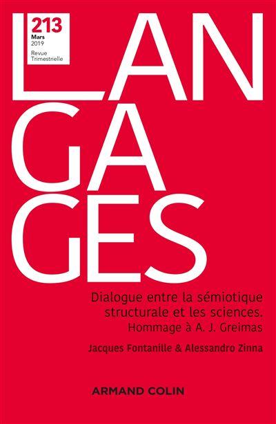 Langages Nº 213 1/2019 Le dialogue entre la sémiotique structurale et les sciences