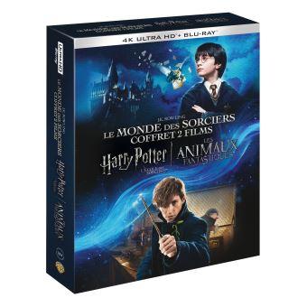 Harry PotterCoffret Harry Potter à l'école des sorciers Les Animaux fantastiques Blu-ray 4K