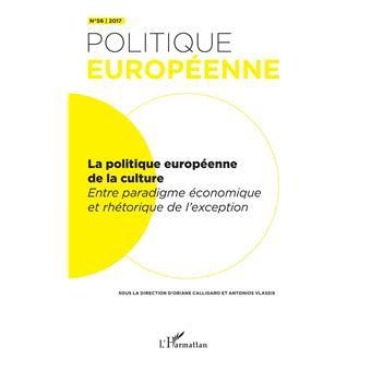 Politique europeenne,56:la politique europeenne de la cultur