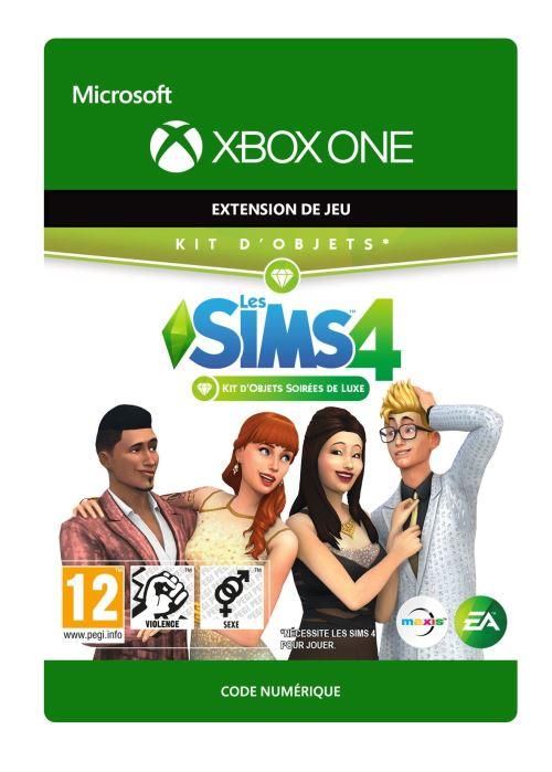 Code de téléchargement Les Sims 4 : Kit d'objets soirées de Luxe Xbox One