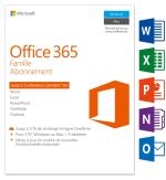 Microsoft Office 365 Famille 5 PC Windows/Mac + 5 tablettes Ab...