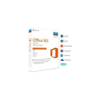 Office 365 Famille 5 PC Windows/Mac + 5 tablettes Abonnement 1 an