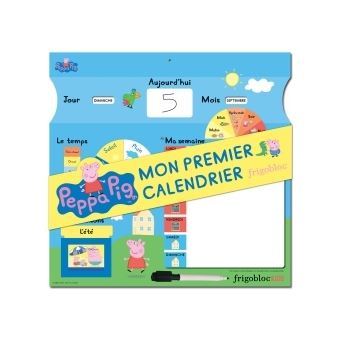 Calendrier Tissu Educatif.Peppa Pig Peppa Pig Mon Premier Calendrier Se Reperer Dans Le Temps Frigobloc