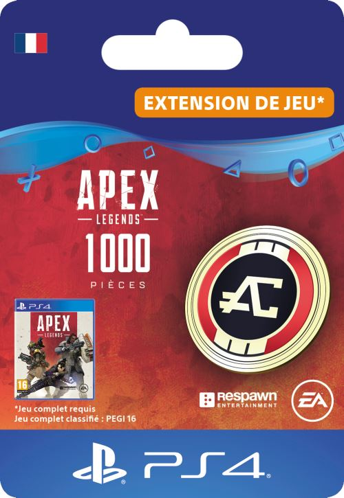Code de téléchargement APEX Legends: 1000 Pièces Apex PS4