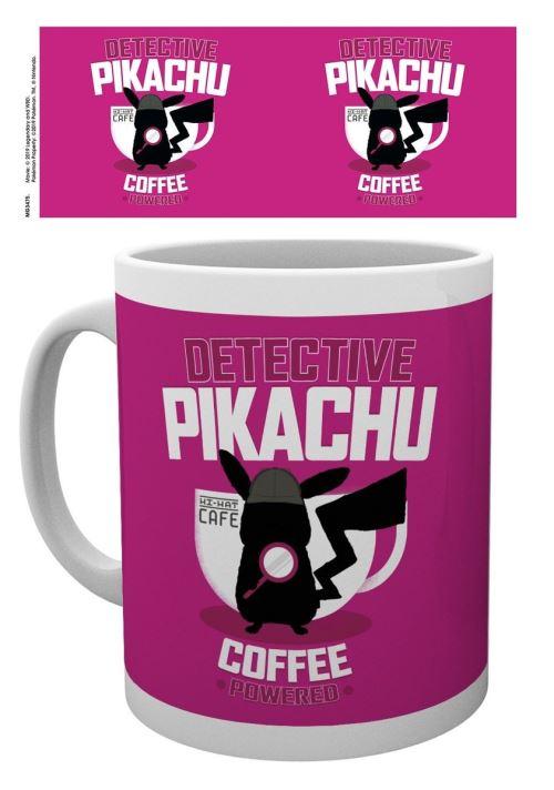 MUG DETECTIVE PIKACHU COFFEE POWERED