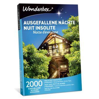 Coffret cadeau Wonderbox Nuit insolite