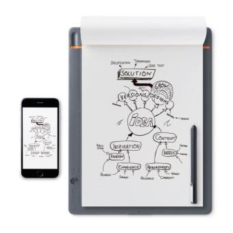 Bloc-notes Connecté Wacom Bamboo Slate Taille S Gris