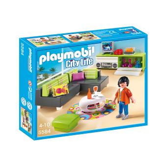 playmobil city life 5584 salon moderne playmobil achat. Black Bedroom Furniture Sets. Home Design Ideas