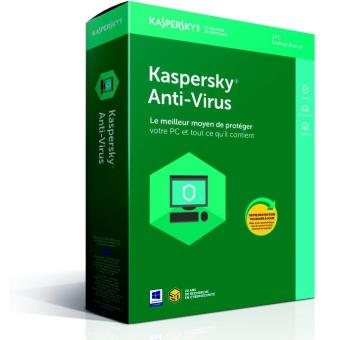 Kaspersky Antivirus 2018 1 Poste 1 An