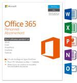 MS Office 365 Personnel 1 PC Windows/Mac + 1 tablette Abonneme...