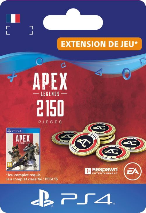 Code de téléchargement APEX Legends: 2150 Pièces Apex PS4