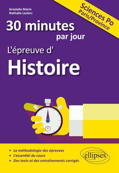 30 minutes par jour d'histoire entrée Sciences Po