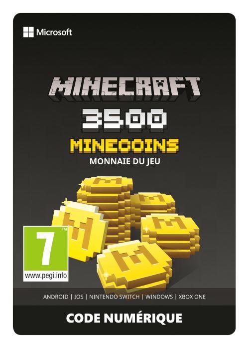 Code de téléchargement Minecoins Pack 3500 Coins Xbox One