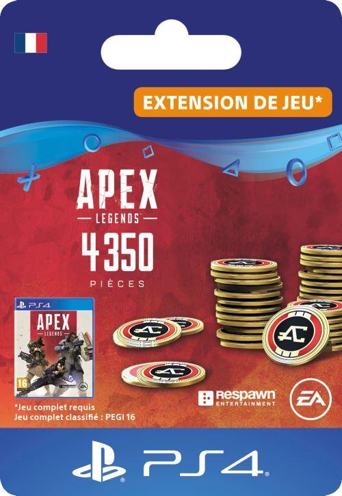 Code de téléchargement APEX Legends: 4350 Pièces Apex PS4