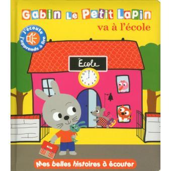 Gabin le petit lapin va à l'école