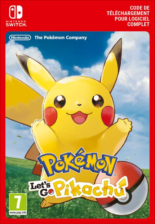 Code de téléchargement Pokémon Let's Go, Pikachu ! Nintendo Switch