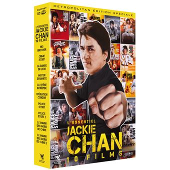 Coffret Jackie Chan L'Essentiel 10 Films DVD