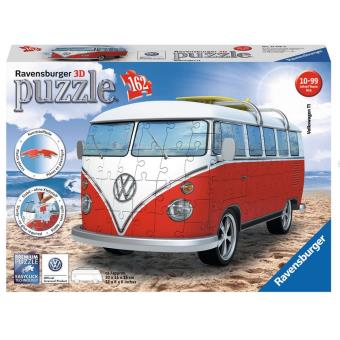 puzzle 3d 162 pi ces volkswagen combi t1 ravensburger. Black Bedroom Furniture Sets. Home Design Ideas