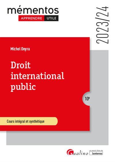 Mémento LMD Droit international public - Gualino Eds