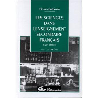 Sciences Dans Enseignement Secondaire Francais 1