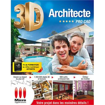 Architecte 3d pro cad pc dvd rom for 3d architecte pro