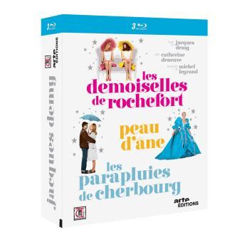 Coffret Jacques Demy  Les demoiselles de Rochefort, Peau d'Âne, Les parapluies de Cherbourg  Blu-Ray