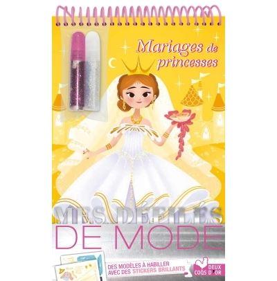 Mariage de princesses - bloc à spirale