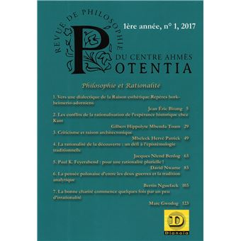 Potentia,01:philosophie et realite