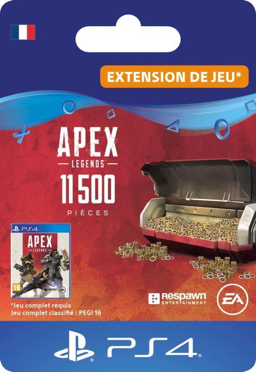 Code de téléchargement APEX Legends: 11500 Pièces Apex PS4