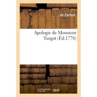 Apologie de Monsieur Turgot